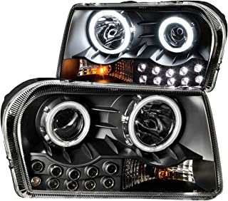Anzo USA 121152 Chrysler 300 Projector With Halo/Black Clear With Amber Reflectors Headlight Assembly - (Sold in Pairs)