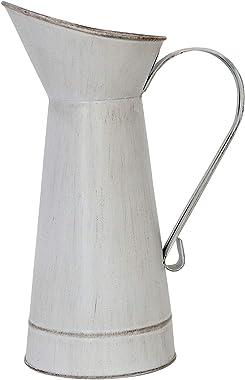 Barnyard Designs - Jarrón de leche (28 x 18,4 cm), color blanco