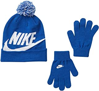 Nike Snow Stripe Set (Little Kids/Big Kids) Black/Blue Glow