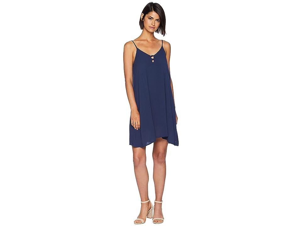 Roxy Full Bloom Woven Tank Dress (Dress Blues) Women