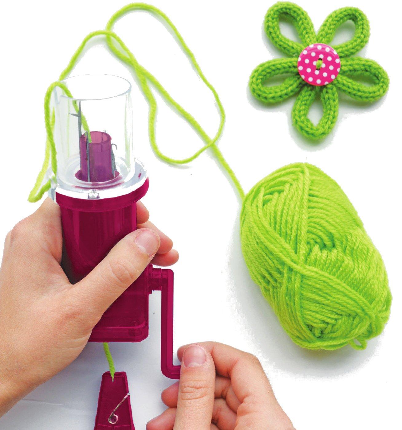 Sycomore- Kit de Pasatiempos creativos niños-Tricotín mecánico ...