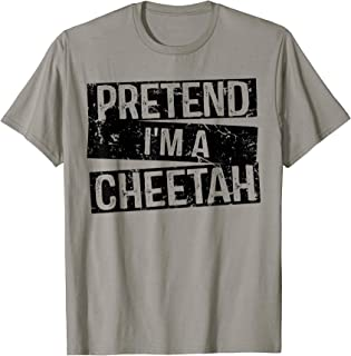 Pretend I'm a Cheetah - Easy DIY Halloween Costume T-Shirt