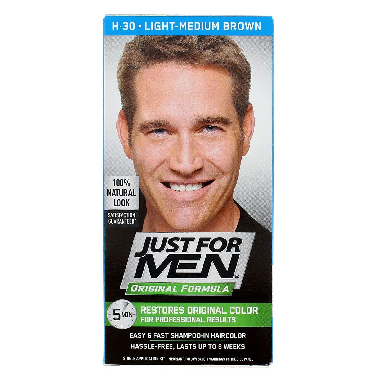 Just For Men Deluxe H-30 Light-Medium Brown of Pack 2 Haircolor 5 ☆ popular