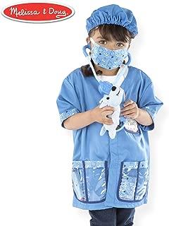 "Melissa & Doug Veterinarian Role-Play Costume Set, Pretend Play, Materials, Machine-Washable, 17.5"" H x 24"" W x 0.75"" L"