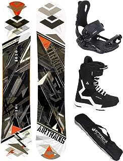 AIRTRACKS Snowboard Set (Paquete Completo) Tabla Line Wide Rocker (Hombre)+Fijaciones Master FASTEC+Botas+SB Bolsa/Nuevo