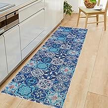 Passadeira Tapete De Cozinha Antiderrapante Emborrachado - Por Metro 43cm Larg. (Azul Mosaico)