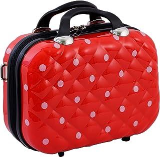 حقيبة مستحضرات التجميل من البولي كربونات الصلبة من لاجليدكينج حقيبة مكياج 13 بوصة حقيبة سفر يد الأمتعة