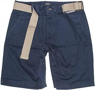 Men's Belted Shorts (34, Navy)