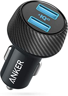 Car Charger (Compatible with Quick Charge Devices), Anker 30W Dual USB Fast Charger, PowerDrive Speed 2 with PowerIQ 2.0 for Galaxy S9/S8/Edge/Note, iPhone XS/Max/XR/X/8, iPad Pro/Air 2/Mini, and More