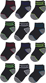 Infant & Toddler Boy's Comfort Cushion Quarter Cut Socks (12 Pack)