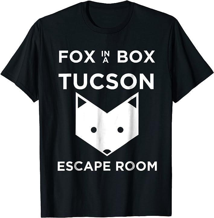 Fox In A Box Tucson Escape Room Logo T Shirt Nice