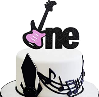 Electric Rock Guitar Cake Toppers 24 Pack