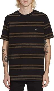 Volcom Big Boys Idle Crew Short Sleeve Striped Pocket Tee