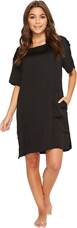 Donna Karan Pleated Jersey Sleepshirt