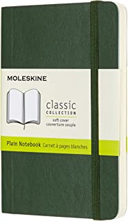 Moleskine 9 x 14 cm Classic Plain Paper Notebook Soft Cover and Elastic Closure Journal - Myrtle Green