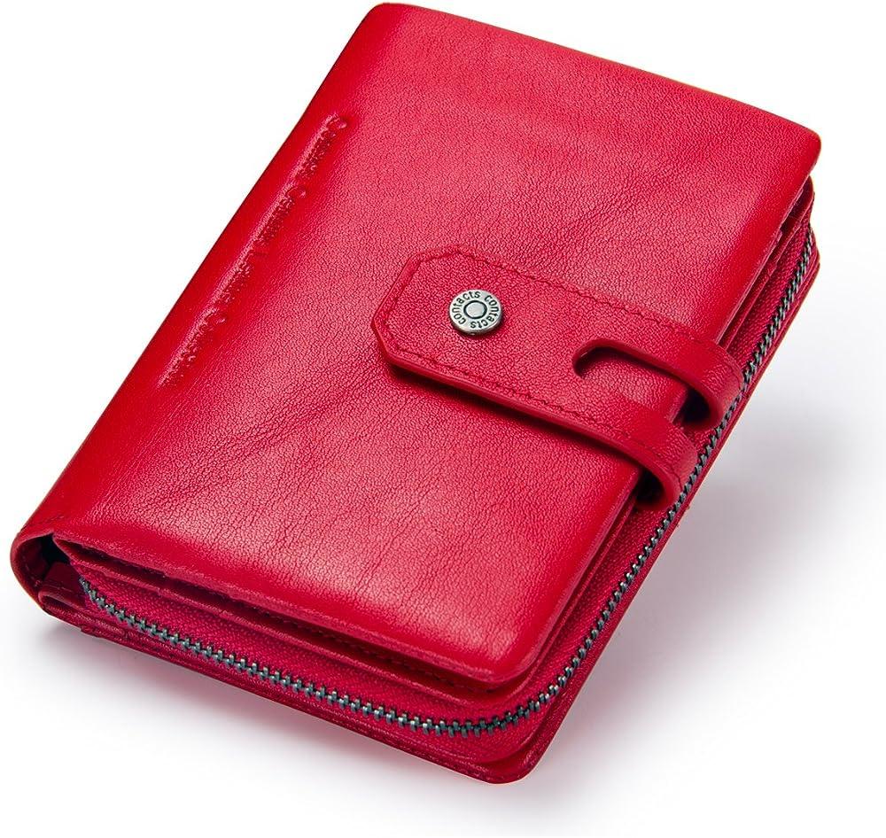 Contacts,  portafoglio da donna, porta carte di credito, in vera pelle, con blocco rfid