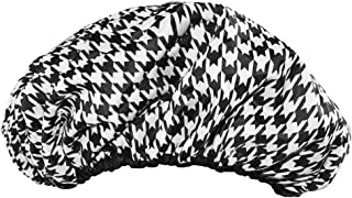 Betty Dain the Socialite Terry Lining Houndstooth Shower Cap