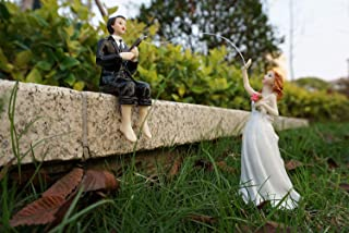 Cake Hooked on Love Fishing Groom Catching Bride Funny Wedding Cake Topper Decor