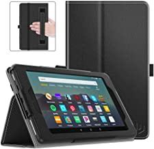 Dadanism Folio Case Fits All-New Amazon Kindle Fire 7 Tablet (9th Generation, 2019 Release only), Premium PU Leather Lightweight Slim Shockproof Smart Stand Cover with Auto Wake/Sleep - Black