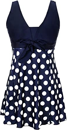 ac498fc95c DANIFY Women's One Piece Swimsuit Plus Size Swimwear Cover Up Swimdress  Bathing Suit