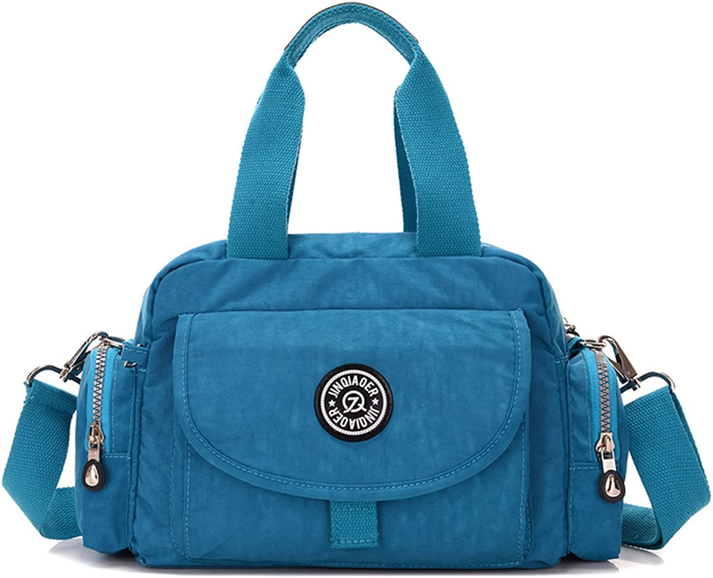 TianHengYi Girls Casual Small Nylon Crossbody Shoulder Bag Multi Pockets Lightweight Handbags & Purses