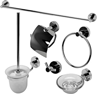 ALFI brand AB9513-PC Matching Bathroom Accessory Set (6 Piece), Polished Chrome