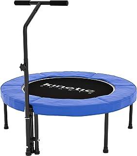 Kinetic Sports Fitness Trampolin Indoor, Durchmesser 100cm, rund höhenverstellbarer..