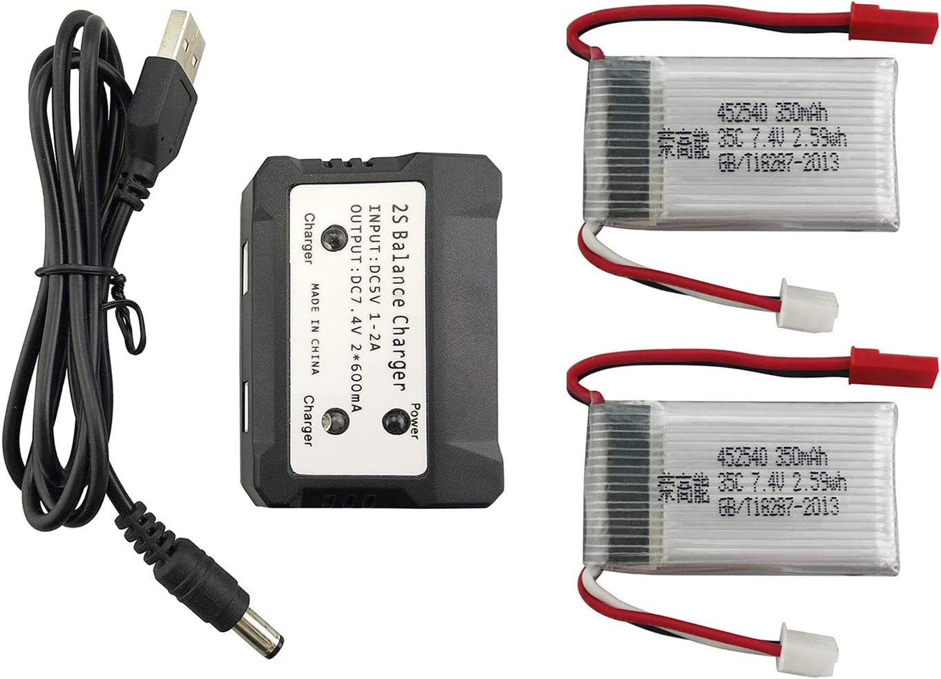 2PCS 7.4V 350mAh Lithium Battery Manufacturer direct delivery Department store with 1PCS in Charger MJ for 2 1