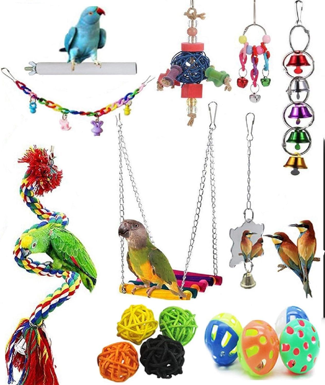Bird Toys Parrot Swing - PCS Cage 16 San Diego Mall Birds Finally popular brand