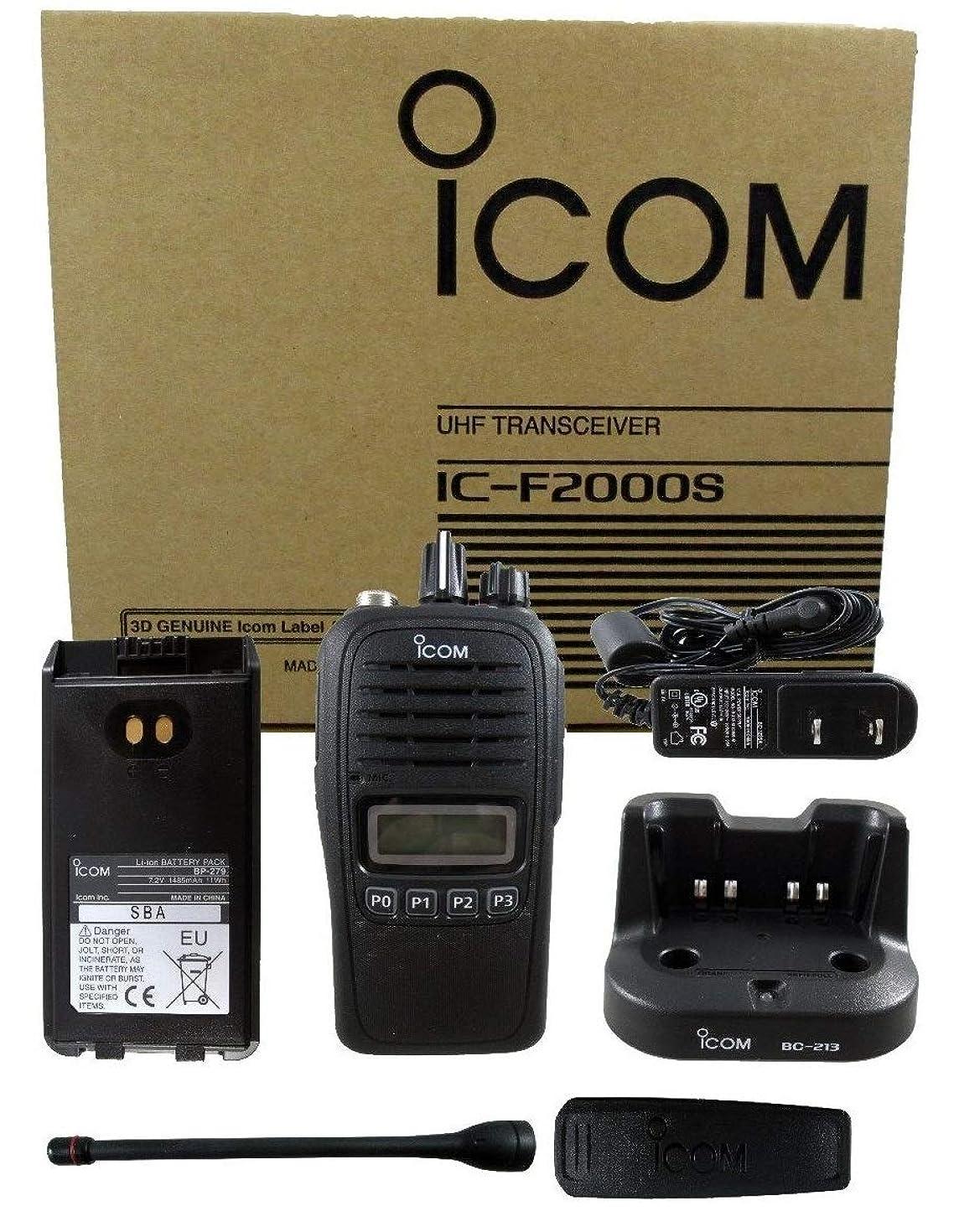 Icom F2000S 05 4W 128CH UHF 400-470MHZ Radio Police Fire HAM Submersible LCD