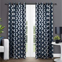 Best indigo patterned curtains Reviews