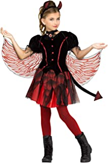Fiery Devil Costume for Girls - Choose Size