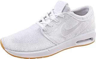 2db8d13fbf6 Nike Men s SB Air Max Janoski 2 Skateboarding Shoes (White White-Gum Yellow