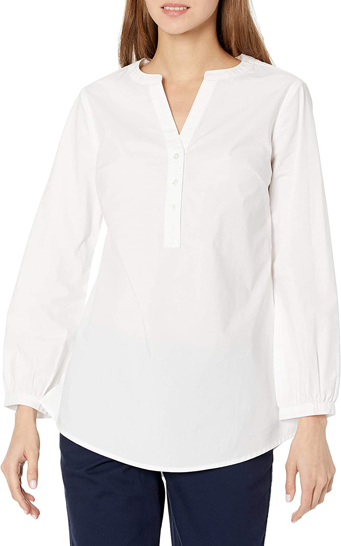 Amazon Essentials Women's Classic-fit Bracelet Length Sleeve Poplin Shirt
