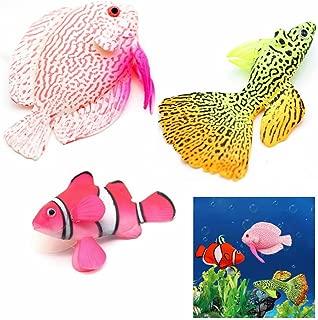 GOOTRADES 3 Pcs/Set Artificial Fish Glowing Effect Aquarium Decor Floating Ornament