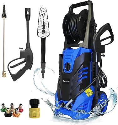 3900PSI High Electric Pressure Washer, High Washing Machine, Adjustable High Pressure Spray Gun (Blue) 29*30*75cm