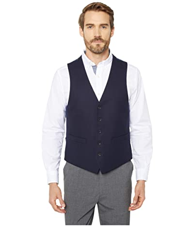 Kenneth Cole Reaction Techni-Cole Stretch Suit Separate Vest (Navy Shadow Check) Men