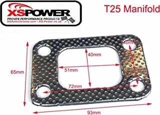 T3 flange T3T4 GT35 T04E GT30 4 bolts turbo manifold inlet Exhaust Gasket Tune