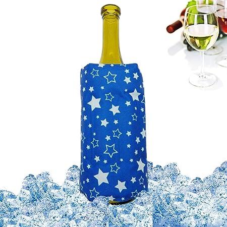 Wine Bottle Cooler Holder Jelly Ice Bag Carrier Cooling Beverage Chilling Bag