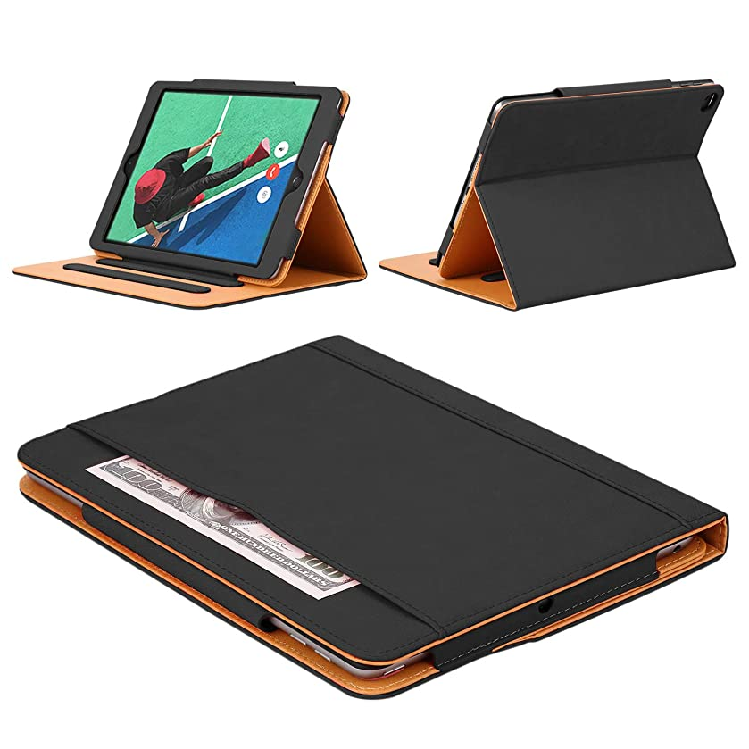 DUNNO iPad 2 3 4 Case, Leather Wallet Smart Case [Synthetic Leather] Stand Folio Cover with Auto Sleep/Wake (Black)