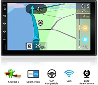 Double Din Car Stereo Android 9.0 Quad Core 7 Inch HD 1024600 Touchscreen Universal Car Radio Navigation Entertainment Multimedia Google/Steering wheel/GPS/WIFI/Bluetooth/Mirror Link(No DVD Player!)