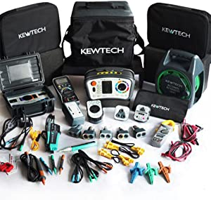 Kewtech KT65DL Anti Trip  ATT  Digital Multifunction Tester POWER-TEST KIT  Comes With MASSIVE Range Accessories Cater For Everything Professional Electrican Needs  Comes With FC2000 Checkbox  KT116 HVAC Multimeter  KT1780 Pole Tester V
