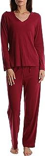 Women's Luxury Soft Sleepwear Long Sleeve Basic V-Neck Top and Full Pants Loungewear Sleep Set Plus 1X 2X 3X 4X 5X
