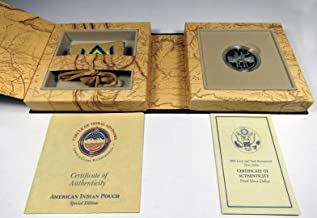2004 P Lewis & Clark Bicentennial Silver Dollar & Pouch Set in OGP Proof