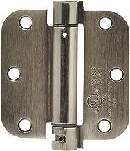 AmazonBasics Self-Closing Door Hinge, 3.5 Inch x 3.5 Inch, 1 Piece, Satin Nickel