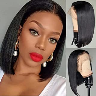 Short Bob Human Hair Lace Front Wigs for Black Women Straight 13x4x1 Lace Frontal Wigs 100% Unprocessed Brazilian Virgin H...