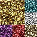 24000STK. lentejuelas 3mm de diámetro 10colores Set Cuenco Encorvada para DIY Ropa y joyas, artesanía, Metallic Manualidades Sequin Bombe