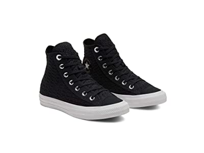 Converse Chuck Taylor All Star Crocheted Hi (Black/White/White) Women