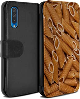 eSwish PU Leather Wallet Flip Case/Cover for Samsung Galaxy A50 2019 / Penne Pasta Design/Food Collection