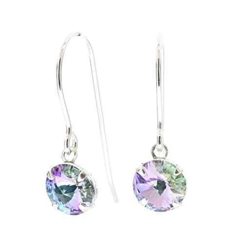e6dc42373b pewterhooter 925 Sterling Silver fishhook earrings expertly made with  sparkling Starlight crystal from SWAROVSKI®.